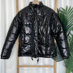 Seed Heritage Black Coated Puffer Jacket 8